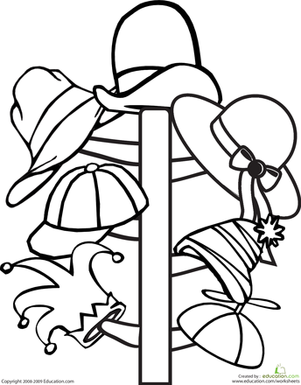 Color the Hat Rack