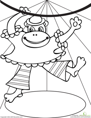 carnival monkey coloring pages - photo#19