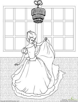 Second Grade Coloring Worksheets: Color the Dancing Princess