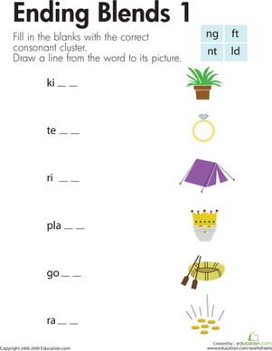 Consonant Blends: Endings