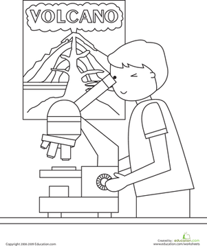 First Grade Holidays & Seasons Worksheets: Science Class Coloring Page