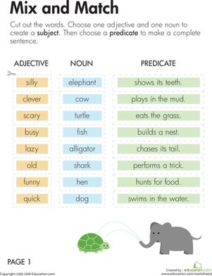Subject and Predicate: Mix and Match