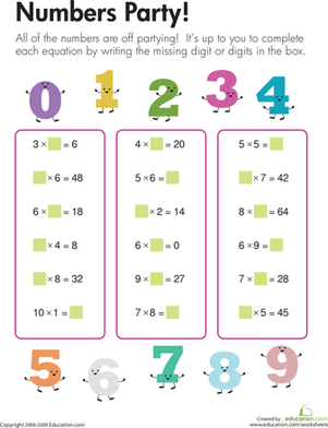 Multiplication Fun | Worksheet | Education.com