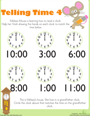 Telling Time with Melissa Mouse 4