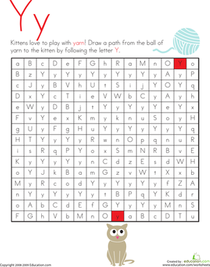 Letter Maze: Y