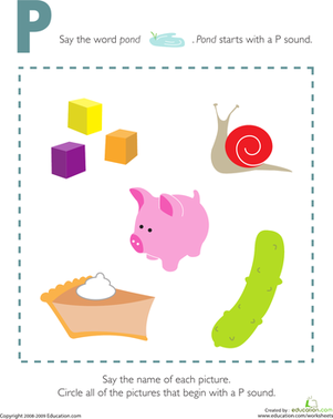 Letter Sound For The Letter P Worksheets for all | Download and ...