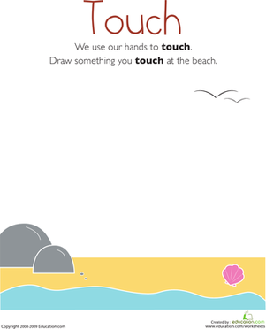 Kindergarten Science Worksheets: Our Five Senses: Touch