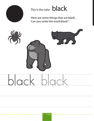 Writing Colors: Black