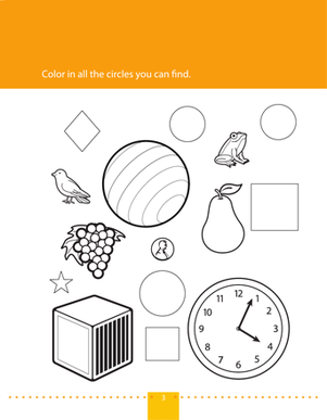 Preschool Math Worksheets: Find & Color Circles