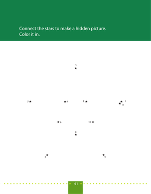 Preschool Math Worksheets: Dot to Dot Star