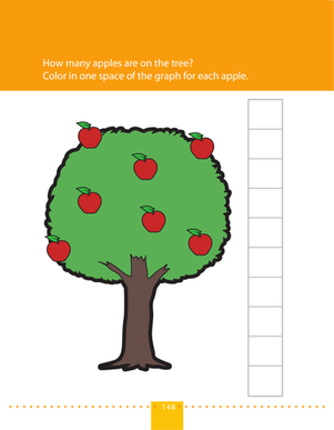 Preschool Math Worksheets: Count the Apples & Make a Graph