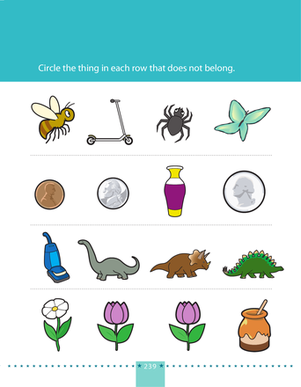 Preschool Math Worksheets: What Does Not Belong? 1