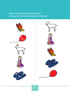 Preschool Reading & Writing Worksheets: What's Missing? 2