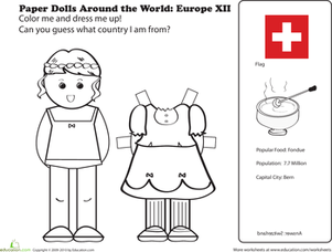 Paper Dolls Around the World: Europe XII
