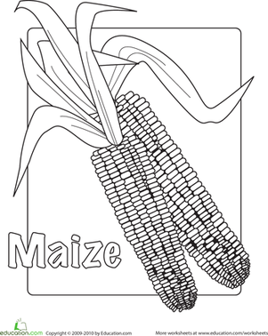 Maize Coloring Page