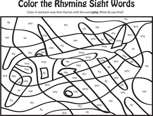 sheets word fox coloring Word     Printable sight Coloring  Pages sight Sight by color word