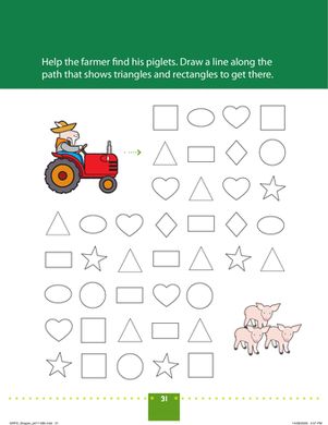 Preschool Math Worksheets: Shape Farming