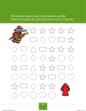 Preschool Math Worksheets: Shape Recognition: Connect the Stars!