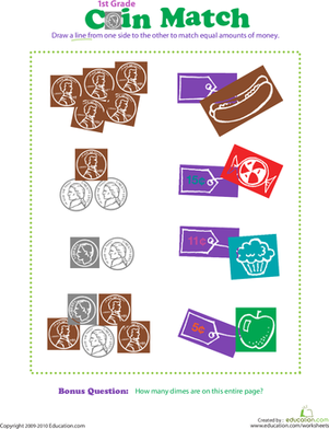Counting Coins Activities | Study.com