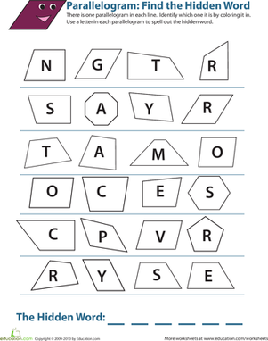 Printable Area of Parallelogram worksheet | Teacher stuff ...