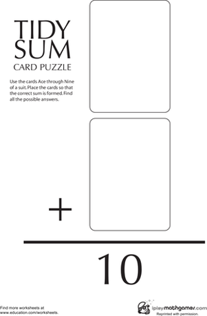 Math Card Game: Tidy Sum