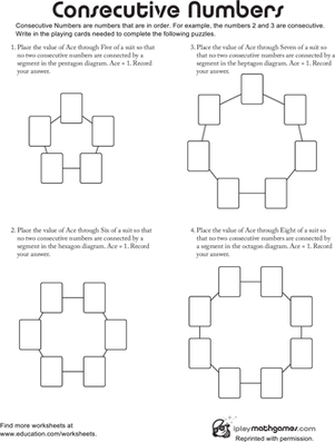 consecutive numbers worksheet. Black Bedroom Furniture Sets. Home Design Ideas