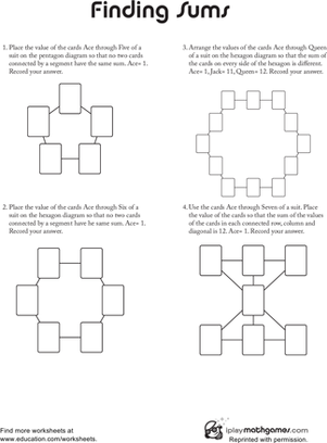 Second Grade Math Worksheets: Math Puzzle: Finding Sums