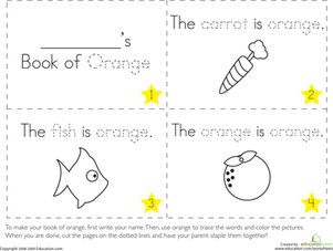 The Color Orange Worksheet Education