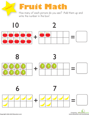 math worksheet : kindergarten addition worksheets  free printables  education  : Kindergarten Math Worksheets Addition