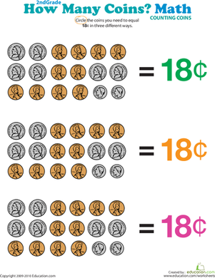 How Many Coins Make 18 Cents?