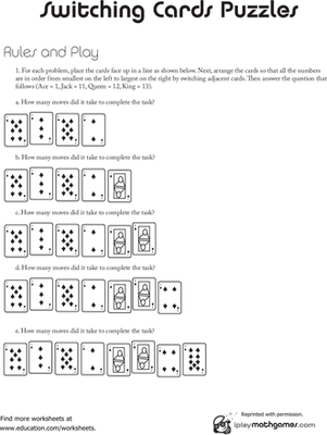 Second Grade Math Worksheets: Fast Math Game