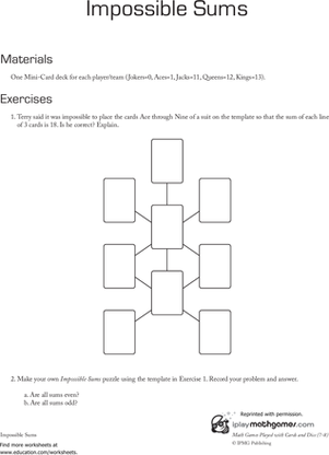 Second Grade Math Worksheets: Addition Puzzle: Impossible Sum