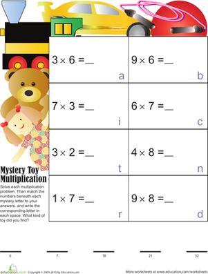 Mystery Toy Multiplication