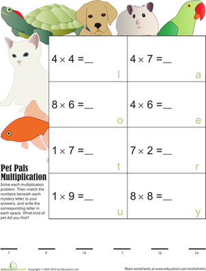 Pet Pals Multiplication