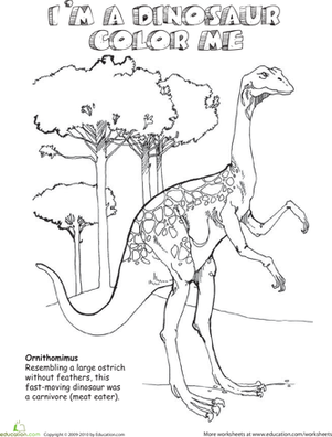 Color the Ornithomimus