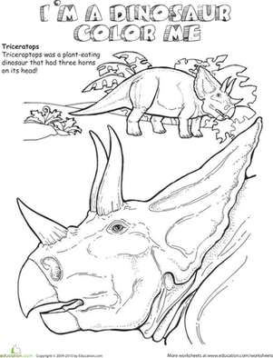 triceratops coloring worksheet. Black Bedroom Furniture Sets. Home Design Ideas