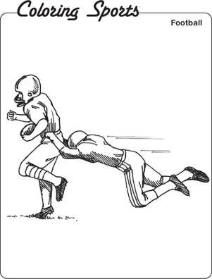 Second Grade Coloring Worksheets: Color these Football Players