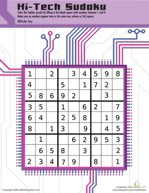 Play Some Hi-Tech Sudoku!