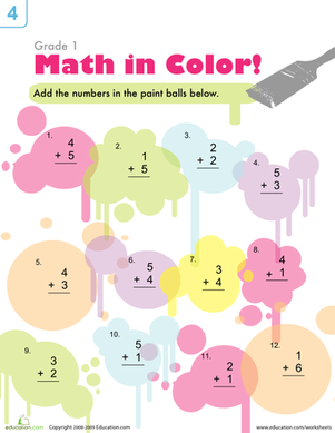 Math Splash: Practicing Addition