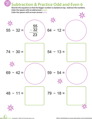 Math Mania: Practice Subtraction & Odd/Even 6