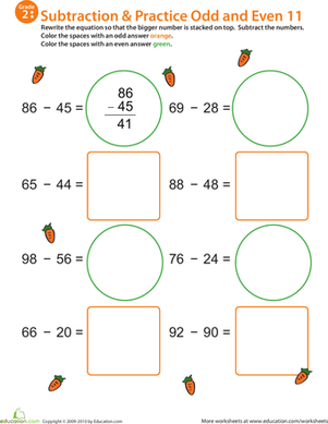 Math Mania: Practice Subtraction & Odd/Even 11