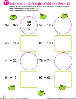 Math Mania: Practice Subtraction & Odd/Even 12