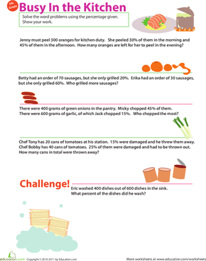 Percent Practice #5: In the Kitchen