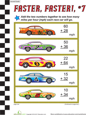Faster, Faster: Two-Digit Addition #7