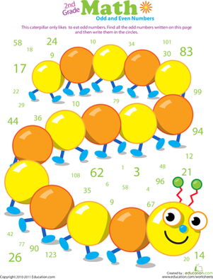 Number Names Worksheets even and odd numbers worksheet : Counting Numbers: Odd and Even | Worksheet | Education.com