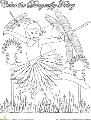Color the Dragonfly Fairy