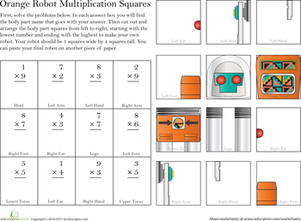 Build a Robot: Multiplication #4