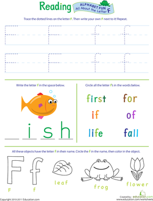 Get Ready for Reading: All About the Letter F