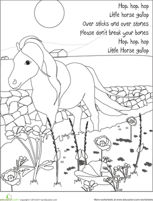 Color the Spring Pony