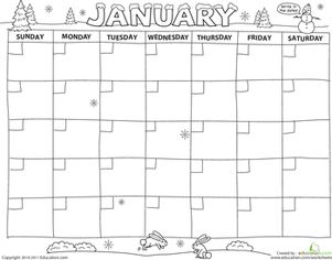 Preschool Math Worksheets: Create a Calendar!